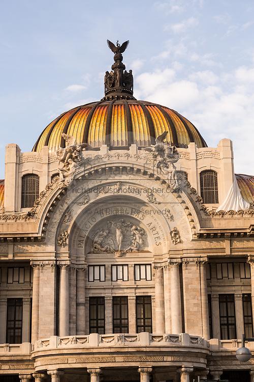 Palacio de Bellas Artes on Alameda Central in Mexico City, Mexico.