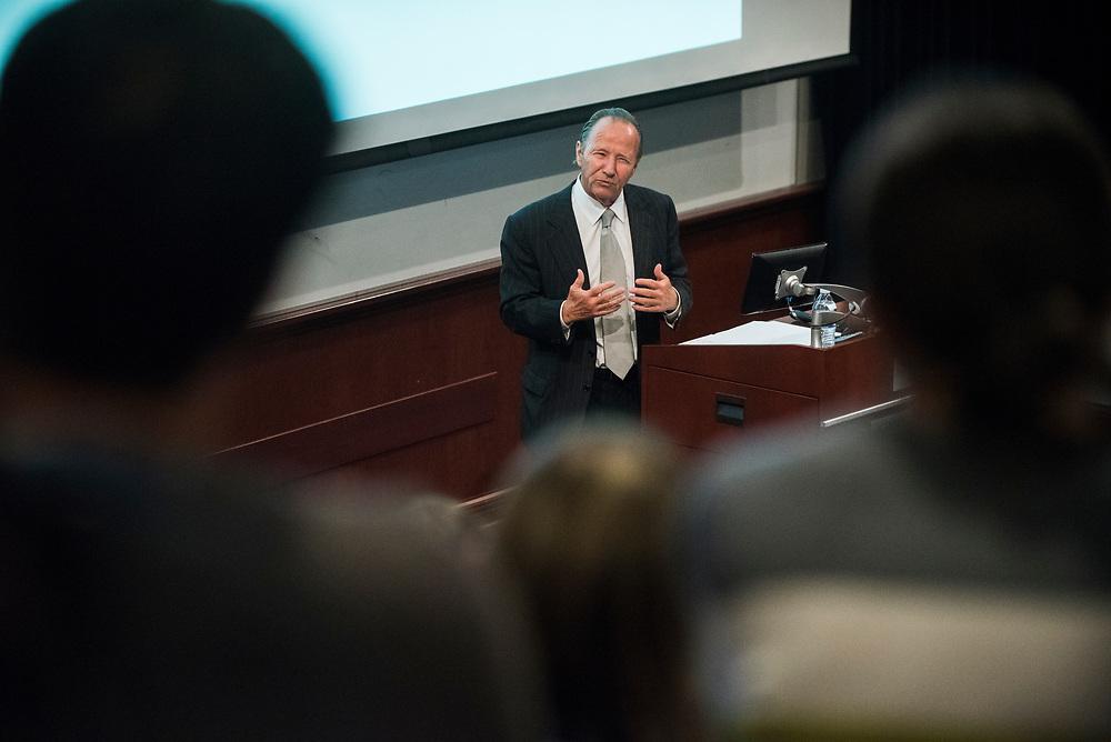Timothy Barnard speaks at the Pigott Entrepreneurship Lecture. Photo by Gavin Doremus.