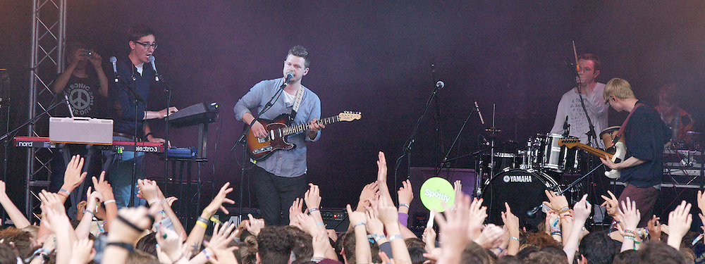 Alt J .WINNERS of the Barclaycard Mercury Prize 2012 performing at The Latitude Festival at Henham Park in Suffolk, Great Britain .13th July 2012. Photo by Elliott Franks / i-Images.