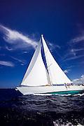 Aurelius sailing in the Old Road Race at the 2011 Antigua Classic Yacht Regatta.