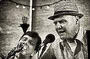 Steve Gallatig and Harry Gambril of The Jersey Corn Pickers performing at The Bus Stop Music Cafe in Pitman, NJ.
