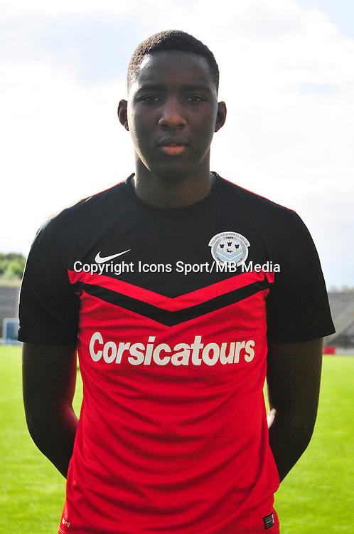 Bingourou KAMARA - 20.09.2014 - Photo officielle - Tours - Ligue 2<br /> Photo : Philippe Le Brech / Icon Sport