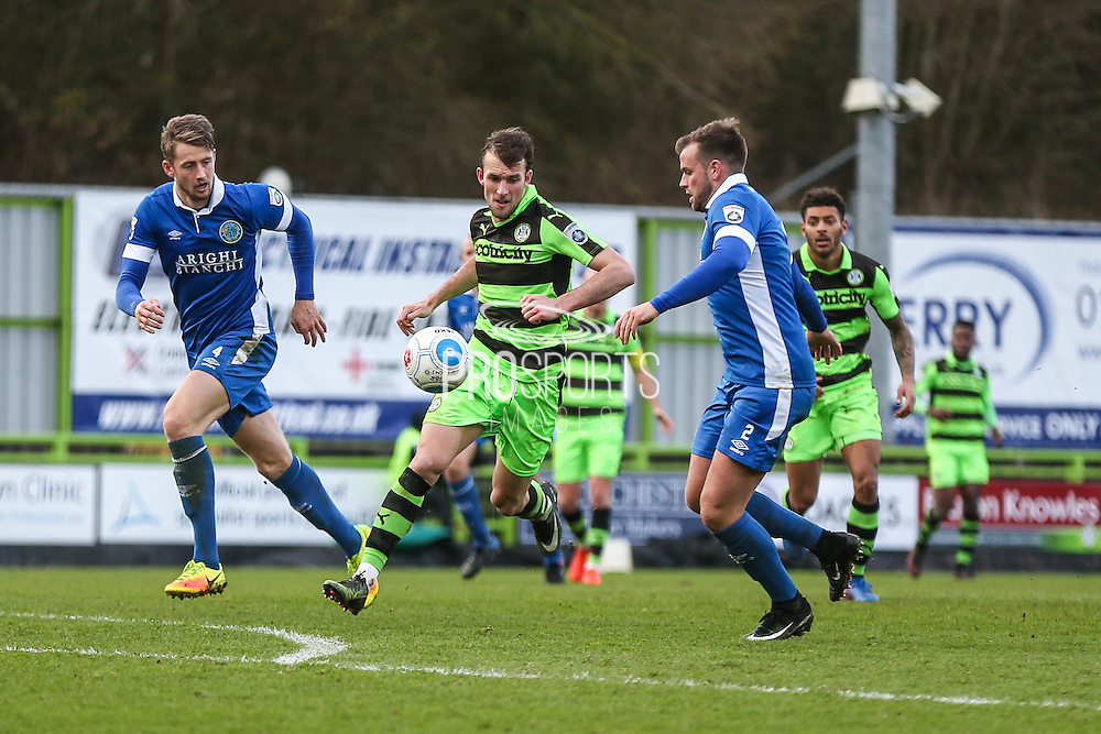 Forest Green Rovers Christian Doidge(9) runs forward during the Vanarama National League match between Forest Green Rovers and Macclesfield Town at the New Lawn, Forest Green, United Kingdom on 4 March 2017. Photo by Shane Healey.