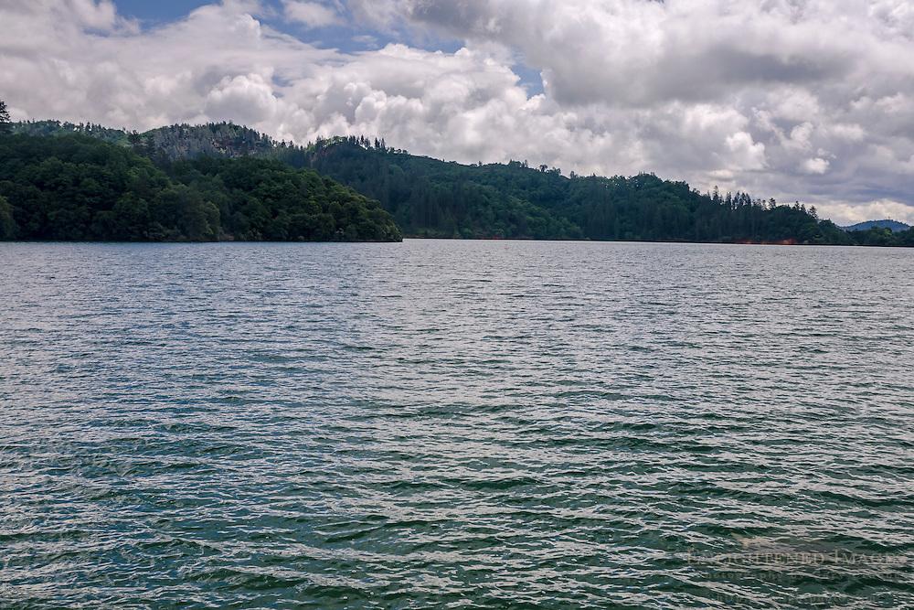 Shasta Lake full of water, Shasta County, California