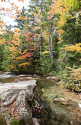The west branch of the Pemigewasset River as it moves through Franconia Notch.