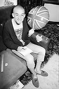 Neville in Front Room at Hawthorne Road, High Wycombe, UK, 1980s.