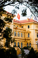 A view of the Presidential Palace in Ba Dinh Square in Hanoi, Vietnam.