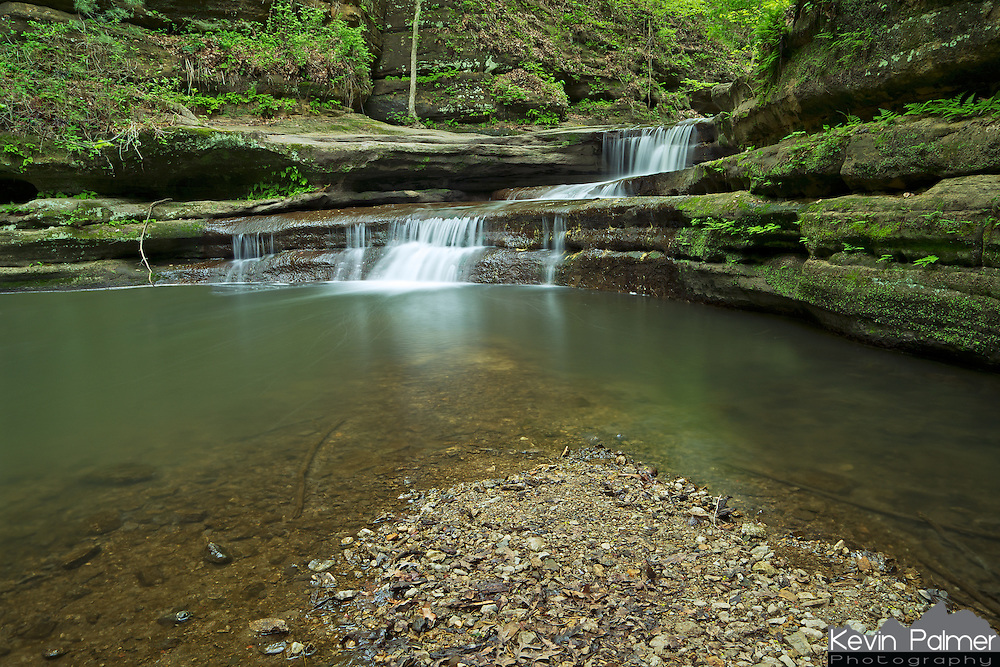 Matthiessen State Park is located in North Central Illinois. There are at least 6 waterfalls located throughout the park with several creeks cutting through the gorges. The creek in this shot flows from Matthiessen Lake down to the Vermillion River. The trails alongside the creek are only accessible when the water level isn't too high. Giant's Bathtub is the name of this waterfall and it's located in the upper dells area, not far from Lake Falls.