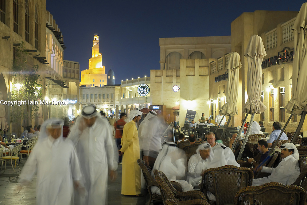 Souq Waqif at night in Doha Qatar