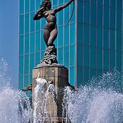 La Diana roundabout in Reforma Avenue in Mexico city.