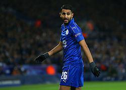 Riyad Mahrez of Leicester City  - Mandatory by-line: Matt McNulty/JMP - 22/11/2016 - FOOTBALL - King Power Stadium - Leicester, England - Leicester City v Club Brugge - UEFA Champions League