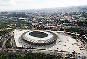 Belo Horizonte_MG, Brasil.<br /> <br /> Vista aerea do jogo de inauguracao entre Cruzeiro e Atletico MG no estadio Governador Magalhaes Pinto, Mineirao em Belo Horizonte, Minas Gerais. <br /> <br /> Aerial view  of the inauguration match between Cruzeiro and Atletico MG in  Governador Magalhaes Pinto stadium, Mineirao, in Belo Horizonte, Minas Gerais.<br /> <br /> Foto: LEO RUMOND / NITRO