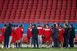 Head coach Bob Bradley of USA kicks speaks to his team during training session at Ellis Park on June 17, 2010 in Johannesburg, South Africa. USA will play their next World Cup Group C match against Slovenia at Ellis Park on Friday June 18, 2010, in Johannesburg, South Africa. (Photo by Vid Ponikvar / Sportida)