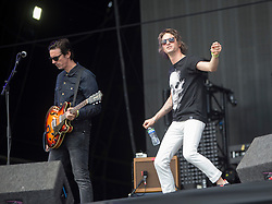 Paul Sayer — guitars and Phil Campbell — vocals. The Temperance Movement perform on the main stage, Friday 8/6 T in the Park 2016, Strathallan Castle, Perthshire