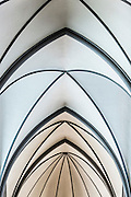 The roof of Reykjavík's Catholic cathedral, the church of Christ the King, designed by Guðjón Samúelsson (personal project)