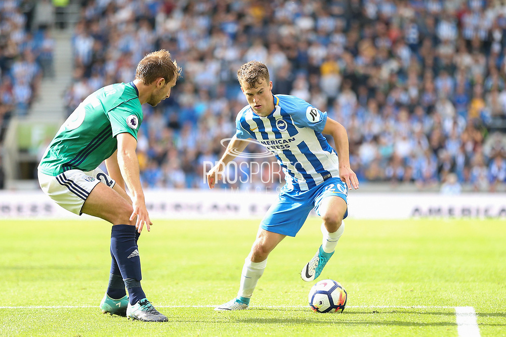 Brighton and Hove Albion midfielder Solomon (Solly) March (20) during the Premier League match between Brighton and Hove Albion and West Bromwich Albion at the American Express Community Stadium, Brighton and Hove, England on 9 September 2017. Photo by Phil Duncan.