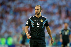 MOSCOW, RUSSIA - Saturday, June 16, 2018: Argentina's Gonzalo Higuain during the FIFA World Cup Russia 2018 Group D match between Argentina and Iceland at the Spartak Stadium. (Pic by David Rawcliffe/Propaganda)