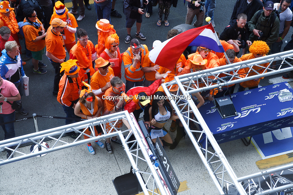 Dutch supporters at Le Mans 24H 2013