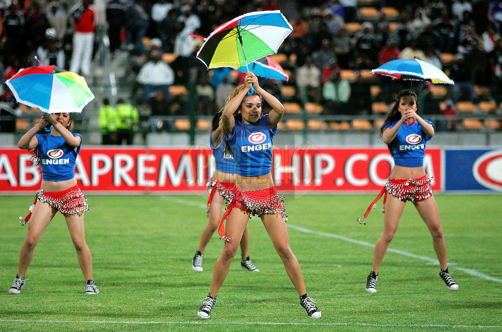 Engen dancers entertain the crowd at half time during the Absa Premiership , PSL, match between Santos and Orlando Pirates held at Athlone Stadium in Athlone, Cape Town, South Africa held on the 18 December 2009.Photo by: Ron Gaunt/sportzpics.net