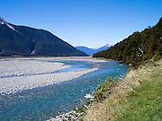 View of the Waimakariri River, Arthur's Pass National Park, New Zealand