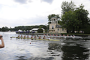 Henley, Great Britain.  M8+, Thames Challenge Cup, Star Club [Bucks], and Thames Rowing Club 'A',, [Berks] race past Temple Island, in their Semi-Final. Henley Royal Regatta. River Thames Henley Reach.  Royal Regatta. River Thames Henley Reach.  Saturday  02/07/2011  [Mandatory Credit  Intersport Images] . HRR