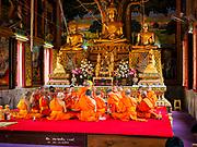 24 JUNE 2017 - BANG KRUAI, NONTHABURI: An ordination ceremony being ordained as monk at Wat Ta Khian in Nonthaburi.      PHOTO BY JACK KURTZ