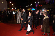 Salma Hayek, Arriving for the Baftas, Leicester Sq. 23  February 2003. © Copyright Photograph by Dafydd Jones 66 Stockwell Park Rd. London SW9 0DA Tel 020 7733 0108 www.dafjones.com