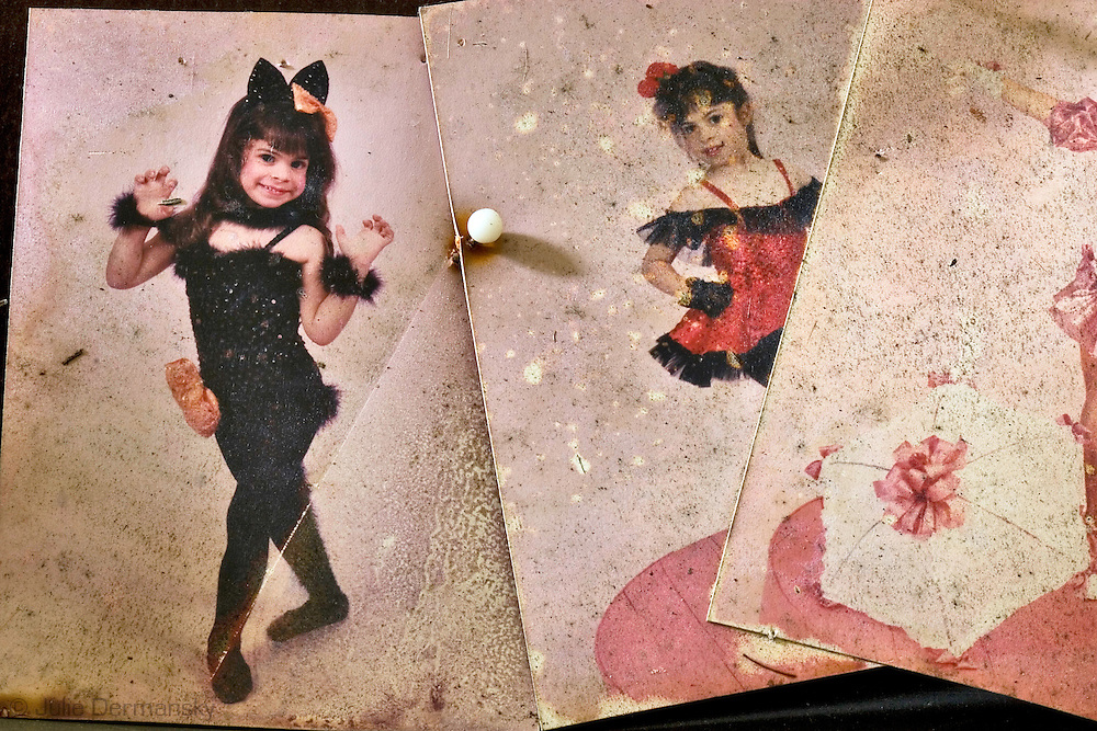 Photo in a costume shop in New Orleans East destroyed by Hurricane Katrina.