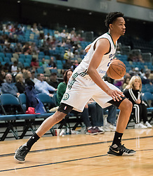 March 20, 2017 - Reno, Nevada, U.S - Reno Bighorn Guard LUIS MONTERO (2) works in the corner during the NBA D-League Basketball game between the Reno Bighorns and the Texas Legends at the Reno Events Center in Reno, Nevada. (Credit Image: © Jeff Mulvihill via ZUMA Wire)