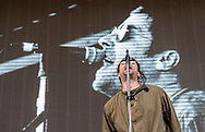 Liam Gallagher is pictured during a live performance at Northside Festival 2018 in Aarhus, Denmark<br />