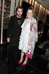 PABLO GANGULI and SVETLANA K-LIE at W London - Leicester Square for the Liberatum Cultural Honour in Spice Market for John Hurt, CBE in association with artist Svetlana K-Lié on 10th April 2013.