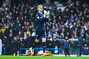 Will Huffer of Leeds United (13) claps the fans as he takes his position before the EFL Sky Bet Championship match between Leeds United and Bristol City at Elland Road, Leeds, England on 24 November 2018.