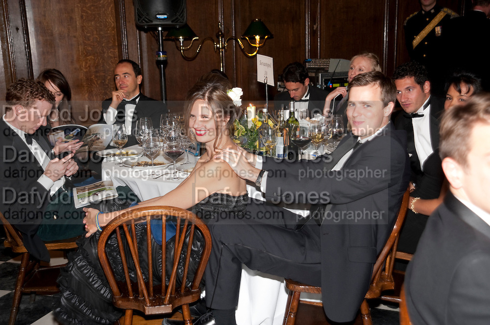 NADIA MARTIN; JEROME DARKER; , Charity Dinner in aid of Caring for Courage The Royal Scots Dragoon Guards Afganistan Welfare Appeal. In the presence of the Duke of Kent. The Royal Hospital, Chaelsea. London. 20 October 2011. <br /> <br />  , -DO NOT ARCHIVE-© Copyright Photograph by Dafydd Jones. 248 Clapham Rd. London SW9 0PZ. Tel 0207 820 0771. www.dafjones.com.