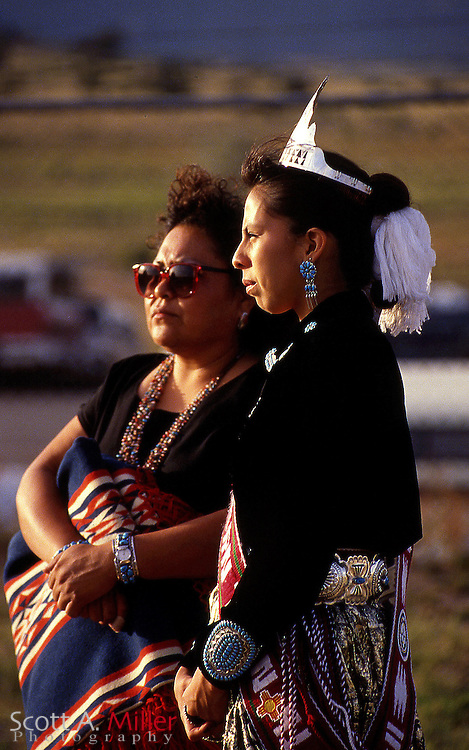 Window Rock, Ariz.; 1992 --- Traditionally dressed Native Americans during the Navajo Nationa Fair in Window Rock, Ariz., the capital of the Navajo Nation...Photo by Scott A. Miller