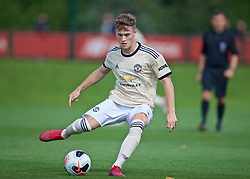 KIRKBY, ENGLAND - Saturday, August 31, 2019: Manchester United's captain Charlie McCann during the Under-18 FA Premier League match between Liverpool FC and Manchester United at the Liverpool Academy. (Pic by David Rawcliffe/Propaganda)
