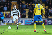 Forest Green Rovers Charlie Cooper(20) on the ball during the Vanarama National League match between Torquay United and Forest Green Rovers at Plainmoor, Torquay, England on 26 December 2016. Photo by Shane Healey.