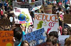 May 24, 2019 - Dublin, Ireland - Thousands of Irish students took part in another climat protest today in Dublin and across the country to demand the Irish government an immediate action on climate change..On Friday, May 24, 2019, in Dublin, Ireland. (Credit Image: © Artur Widak/NurPhoto via ZUMA Press)