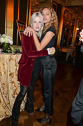 Left to right, HARRIET VERNEY and PHOEBE COLLINGS JAMES at a party to celebrate the publication of 'Have I Said Too Much' by Carole White held at the Cafe Royal, Regents Street, London on 18th February 2015.
