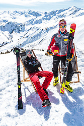 02.04.2018, Skizentrum Hochzillertal, Kaltenbach, AUT, JumpandReach Skitag, im Bild Michael Hayboeck, Mario Seidl // during the Skiing Day after the Winterseason with the Austrian JumpandReach Athletes at the Skiresort Hochzillertal, Austria on 2018/04/02. EXPA Pictures © 2018, PhotoCredit: EXPA/ JFK