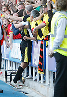 Photo: Steve Bond/Richard Lane Photography. Reading v Watford. Coca Cola Championship. 26/09/2009. Danny Graham is engulfed by Watford fans