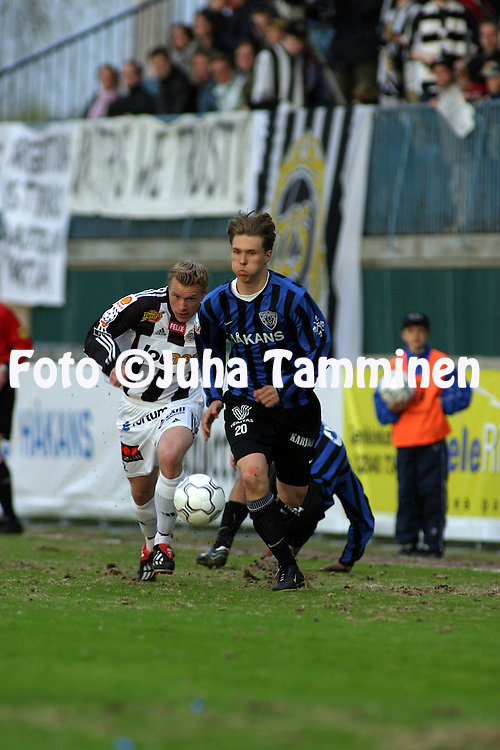 15.05.2003, Veritas Stadion, Turku, Finland..Veikkausliiga 2003 / Finnish League 2003.FC Inter Turku v TPS Turku.Ari Nyman - Inter.©Juha Tamminen