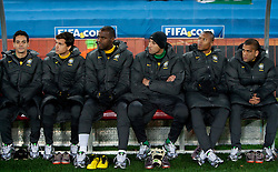 Substitutes of Brazil during the 2010 FIFA World Cup South Africa Group G match between Brazil and North Korea at Ellis Park Stadium on June 15, 2010 in Johannesburg, South Africa. Brazil defeated Korea 2-1. (Photo by Vid Ponikvar / Sportida)