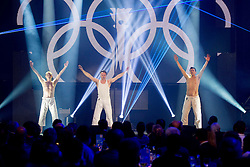 Performers during presentation of Team Slovenia for Sochi 2014 Winter Olympic Games on January 22, 2014 in Grand Hotel Union, Ljubljana, Slovenia. Photo by Vid Ponikvar / Sportida