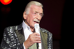 "09.06.2015, Palm Beach, USA, Bandleader James Last mit 86 Jahren gestorben, im Bild der Deutsche Bandleader James Last ist am Dienstag mit 86 Jahren in Florida (USA) gestorben. 70 Jahre stand James Last auf der Show-Buehne, erst im Maerz und April feierte er seine Abschiedstournee ""Non Stop Music"". Hier auf einem Archivbild vom 08.04.2015 in der Freiburger Rothaus Arena // Bandleader James Last died on Tuesday with 86 years in Florida (USA). 70 years was James Last on stage, in March and April he celebrated his farewell tour ""Music Non Stop"" Rothaus Arena in Palm Beach, United States on 2015/06/09. EXPA Pictures © 2015, PhotoCredit: EXPA/ Eibner-Pressefoto/ Fleig<br /> <br /> *****ATTENTION - OUT of GER*****"
