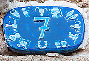 Ceramic numbers the number Seven