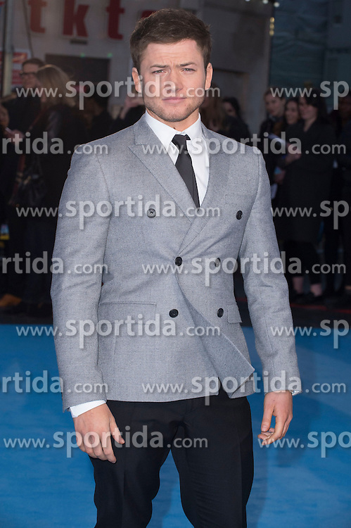 Taron Egerton attends the European premiere for &quot;Eddie the Eagle at Odeon Leicester Square in London, 17.03.2016. EXPA Pictures &copy; 2016, PhotoCredit: EXPA/ Photoshot/ Euan Cherry<br /> <br /> *****ATTENTION - for AUT, SLO, CRO, SRB, BIH, MAZ, SUI only*****