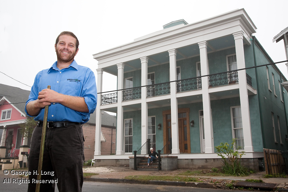 Tulane alumnus, Patrick Ibert, used green products and technology to renovate his mother's home on St. Andrew Street in New Orleans.