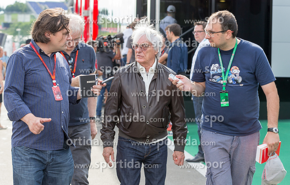 30.06.2016, Red Bull Ring, Spielberg, AUT, FIA, Formel 1, Grosser Preis von Österreich, Vorberichte, im Bild Bernie Ecclestone (GBR) CEO Formula One Group // Bernie Ecclestone (GBR) CEO Formula One Group during the Preparation for the Austrian Formula One Grand Prix at the Red Bull Ring in Spielberg, Austria on 2016/06/30. EXPA Pictures © 2016, PhotoCredit: EXPA/ Dominik Angerer