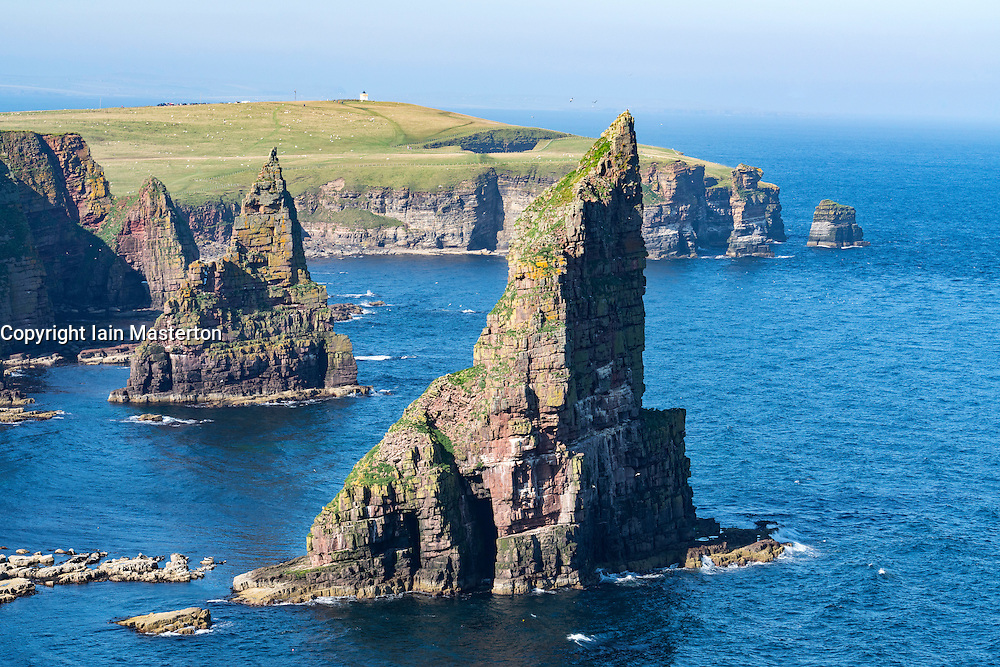 Sea stacks at Duncansby Head, near John O' Groats, Caithness, Highland, Scotland, United Kingdom