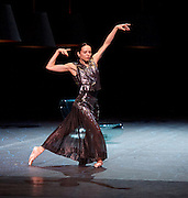 Diana Vishneva<br /> On the Edge <br /> at The London Coliseum, London, Great Britain <br /> 14th April 2015 <br /> <br /> Switch <br /> <br /> choreography by Jean-Christophe Maillot <br /> <br /> Diana Vishneva<br /> <br /> <br /> <br /> <br /> Photograph by Elliott Franks <br /> Image licensed to Elliott Franks Photography Services